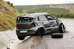 Accident de voiture et épave photo libre de droits