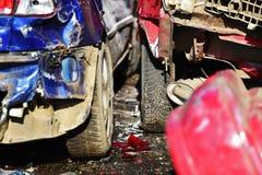 Accident de voiture grave Photos libres de droits