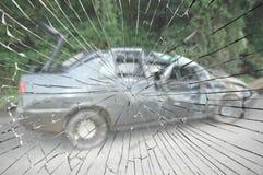 Accident de voiture horrible Photo stock