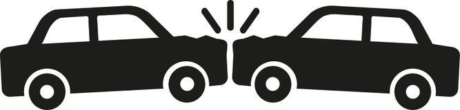 Accident de voiture - icône pour l'assurance auto Image libre de droits
