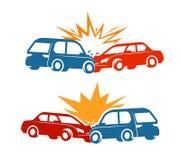 Accident de voiture, icône d'accident de la circulation Illustration de vecteur illustration de vecteur