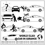 Accident de voiture noir de modèle rayé Photos libres de droits