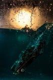 Accident de voiture sous-marin images stock