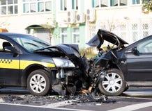 Accident de voitures Photos stock