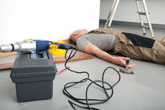 Accident during domestic work Royalty Free Stock Image