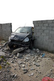 Accident 2 - Drunk crash test Royalty Free Stock Photography