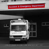 Accident and Emergency Entrance stock photo