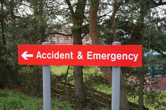 Accident and Emergency sign Royalty Free Stock Photos