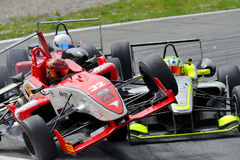 Accident of F2 cars on Monza Track -  Ferrari Challenge April 2015 Royalty Free Stock Photography