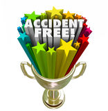 Accident Free Best Safety Record Trophy Prize Award Stock Images