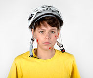 Accident with helmet Royalty Free Stock Photos