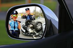 Accident, Hit And Run, Police Royalty Free Stock Photography