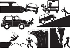 Accident icon Stock Image