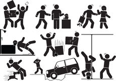 Accident icon. Illustration - Accident and Self icon set Royalty Free Stock Photos