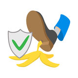 Accident insurance icon, cartoon style Royalty Free Stock Photography