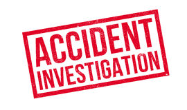 Accident Investigation rubber stamp Royalty Free Stock Image