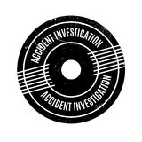 Accident Investigation rubber stamp Royalty Free Stock Images