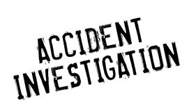 Accident Investigation rubber stamp Stock Image