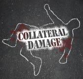 Accident involontaire de blessure de dégât indirect de bataille de guerre illustration stock