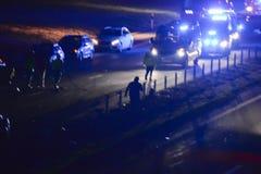 Accident la nuit image libre de droits