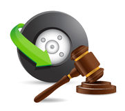 Accident lawyer concept illustration Stock Photography