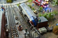 Accident locomotif Images libres de droits
