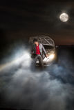 Accident in the night Royalty Free Stock Photography