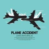 Accident plat Images libres de droits