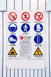 Accident prevention. Stock Photo