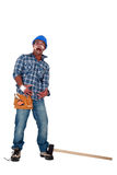 Accident prone  worker Royalty Free Stock Photos