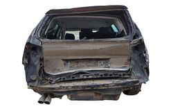 Accident Rear damage car stock photo