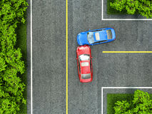 Accident on the road Stock Photography