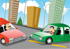 The accident on the road Royalty Free Stock Photo