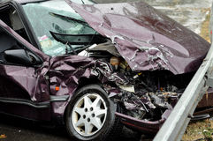 Accident on the road Royalty Free Stock Photo