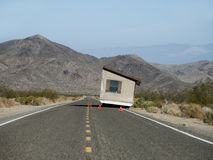 Accident on the road - Moving house On Wheels Royalty Free Stock Images