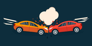 Accident road situation. Royalty Free Stock Photos