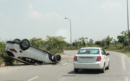 Accident Site on Road Stock Photography
