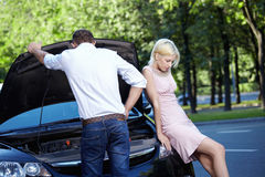 Accident situation Royalty Free Stock Image