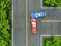 Accident sur la route Photographie stock
