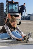 Accident at work site. Accident at the work site stock image