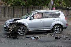 Accidente auto de SUV Fotografía de archivo libre de regalías