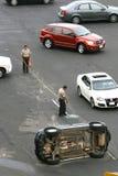 Accidente de automóvil Fotografía de archivo libre de regalías