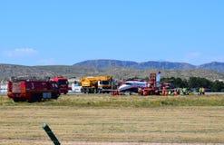 Accidente de aviones en el aeropuerto de Alicante imágenes de archivo libres de regalías