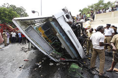 Accidente de carretera imagen de archivo libre de regalías