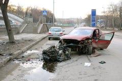 Accidente de carretera Fotografía de archivo