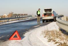 Accidente de carretera Imagenes de archivo