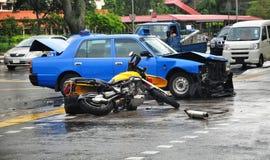 Accidente de carretera fatal Foto de archivo libre de regalías