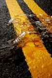 Accidente de conducción borracho fotografía de archivo