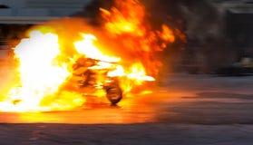 Accidente de fuego Imagen de archivo libre de regalías
