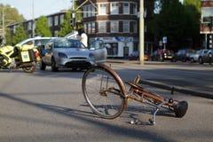Accidente de la bicicleta Fotografía de archivo libre de regalías